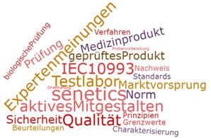 """senetics im Normungsgremium für """"biologische Beurteilung von Medizinprodukten"""""""